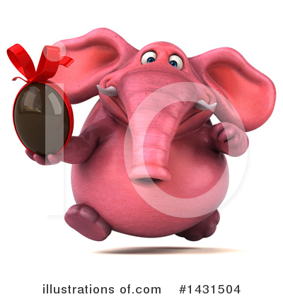 Pink Elephant Clipart #1431504 by Julos