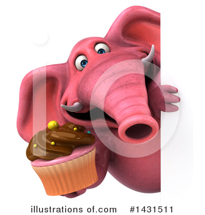 Pink Elephant Clipart #1431511 by Julos
