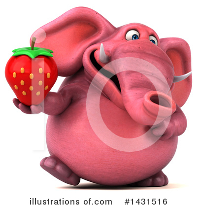 Pink Elephant Clipart #1431516 by Julos