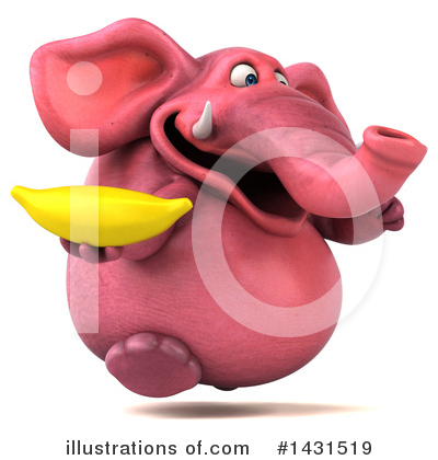 Pink Elephant Clipart #1431519 by Julos