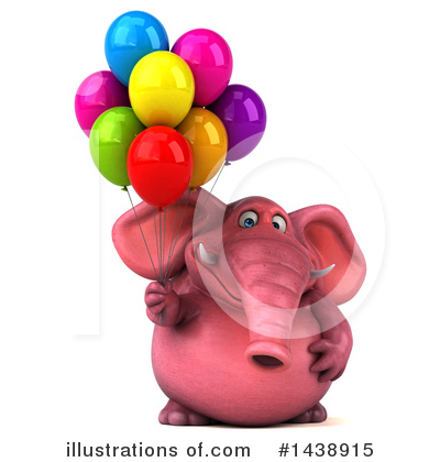 Royalty-Free (RF) Pink Elephant Clipart Illustration by Julos - Stock Sample #1438915