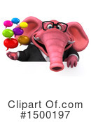 Pink Elephant Clipart #1500197 by Julos