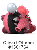 Pink Elephant Clipart #1561764 -  , 118