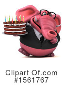 Pink Elephant Clipart #1561767 -  , 118