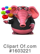 Pink Elephant Clipart #1603221 by Julos