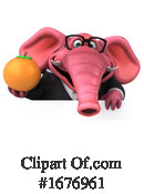Pink Elephant Clipart #1676961 by Julos