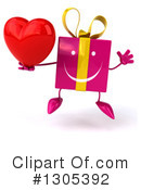 Pink Gift Character Clipart #1305392 by Julos