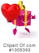 Pink Gift Character Clipart #1305393 by Julos