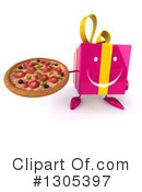 Pink Gift Character Clipart #1305397 by Julos