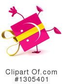 Pink Gift Character Clipart #1305401 by Julos