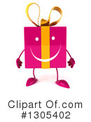 Pink Gift Character Clipart #1305402 by Julos