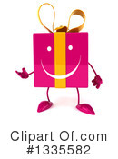 Pink Gift Character Clipart #1335582