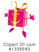 Pink Gift Character Clipart #1335583