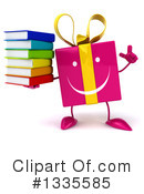 Pink Gift Character Clipart #1335585