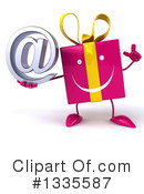 Pink Gift Character Clipart #1335587