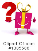 Pink Gift Character Clipart #1335588
