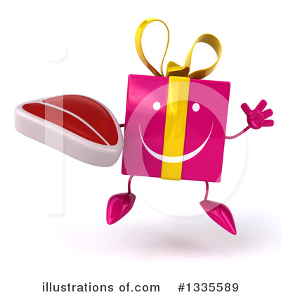 Pink Gift Character Clipart #1335589 by Julos