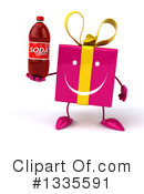 Pink Gift Character Clipart #1335591