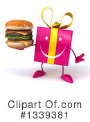 Pink Gift Character Clipart #1339381 by Julos