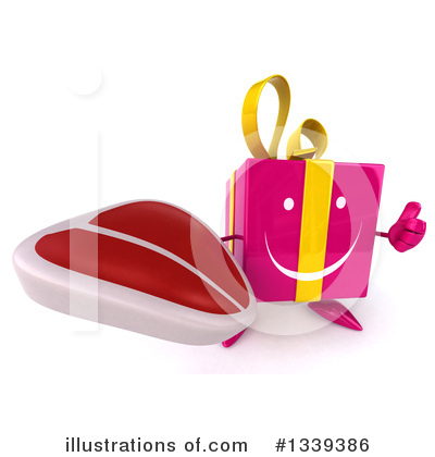 Pink Gift Character Clipart #1339386 by Julos