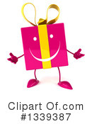Pink Gift Character Clipart #1339387 by Julos