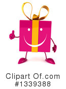 Pink Gift Character Clipart #1339388 by Julos