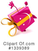 Pink Gift Character Clipart #1339389 by Julos