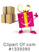 Pink Gift Character Clipart #1339390 by Julos