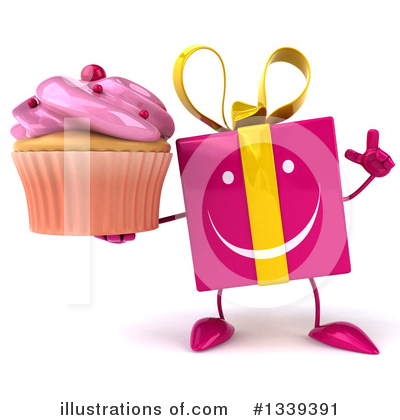 Pink Gift Character Clipart #1339391 by Julos