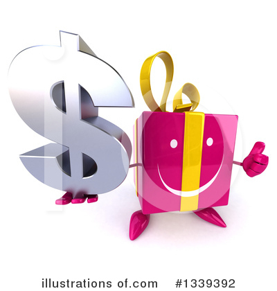 Pink Gift Character Clipart #1339392 by Julos