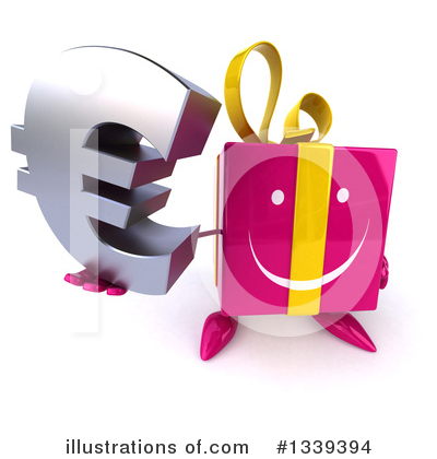 Pink Gift Character Clipart #1339394 by Julos