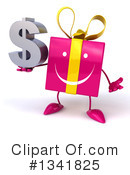 Pink Gift Character Clipart #1341825