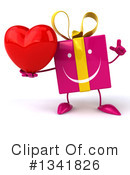 Pink Gift Character Clipart #1341826