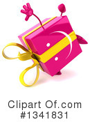 Pink Gift Character Clipart #1341831 by Julos