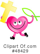 Pink Heart Character Clipart #48429 by Prawny