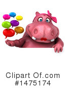 Pink Hippo Clipart #1475174 by Julos