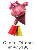 Pink Hippo Clipart #1475198 by Julos