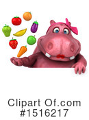 Pink Hippo Clipart #1516217 by Julos