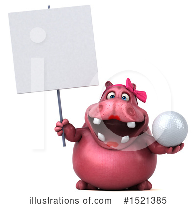 Royalty-Free (RF) Pink Hippo Clipart Illustration by Julos - Stock Sample #1521385