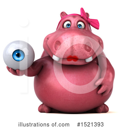 Pink Hippo Clipart #1521393 by Julos