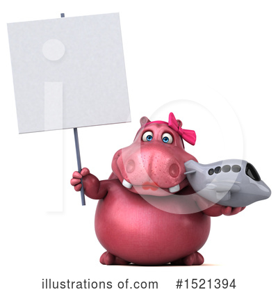 Pink Hippo Clipart #1521394 by Julos