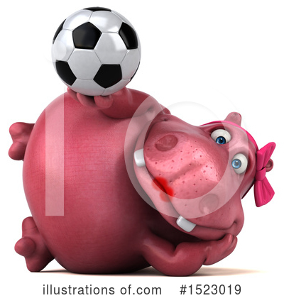 Pink Hippo Clipart #1523019 by Julos