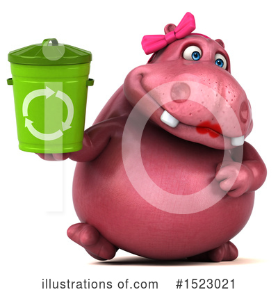 Pink Hippo Clipart #1523021 by Julos