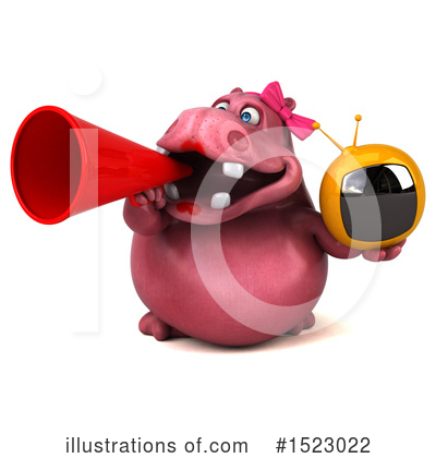 Pink Hippo Clipart #1523022 by Julos