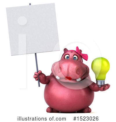Pink Hippo Clipart #1523026 by Julos