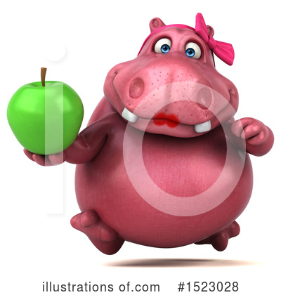 Pink Hippo Clipart #1523028 by Julos