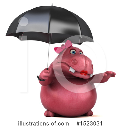 Pink Hippo Clipart #1523031 by Julos