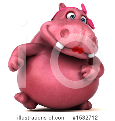 Pink Hippo Clipart #1532712 by Julos