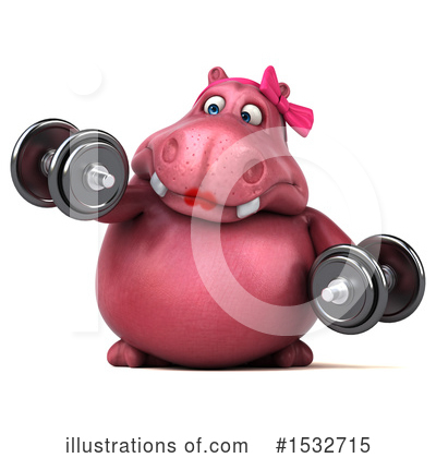 Pink Hippo Clipart #1532715 by Julos