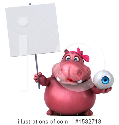 Pink Hippo Clipart #1532718 by Julos